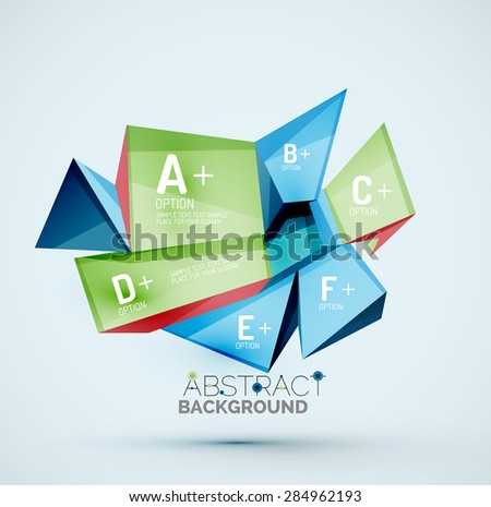 3d geometric shapes with sample text … Stock Photo 295161932