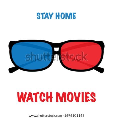 3d glasses for cinema or movie