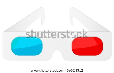 3d glasses on a white background. Vector illustration.