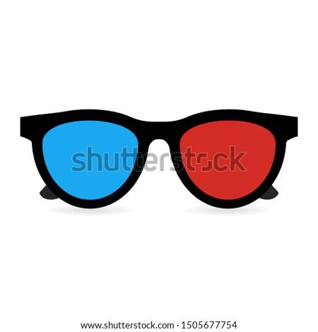 3D glasses on white background. #1505677754