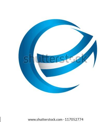 3d Global Arrow ...D Arrow Logo
