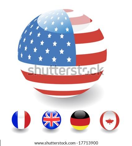 3D glossy flag