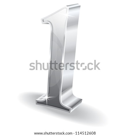 3d Glossy One 1 Vector