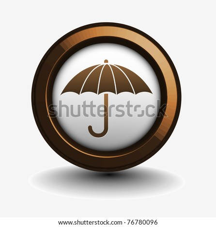 3d glossy safety icon vector design.