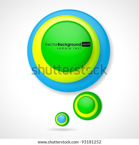 3d glossy vector speech bubble