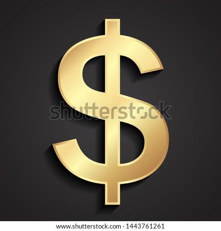 3d golden dolar shiny symbol Zdjęcia stock ©