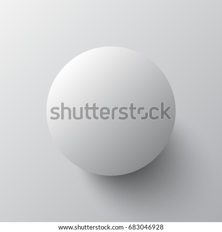 3d gray ball with shadow