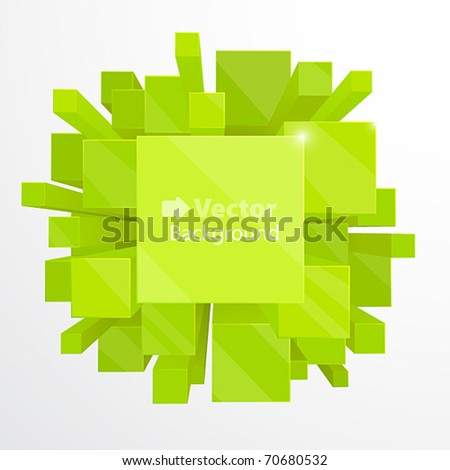 3d green abstract background - vector illustration