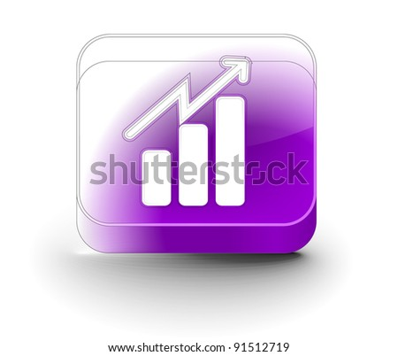 3d hand graph icon, vector icon