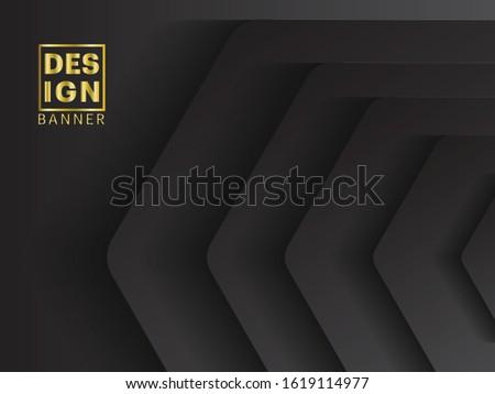 3d hexagon black background