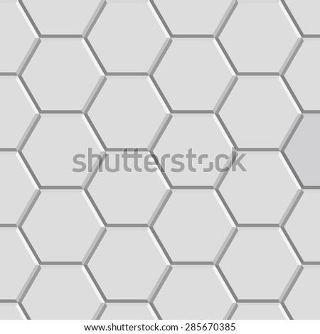 3d hexagon pattern block of