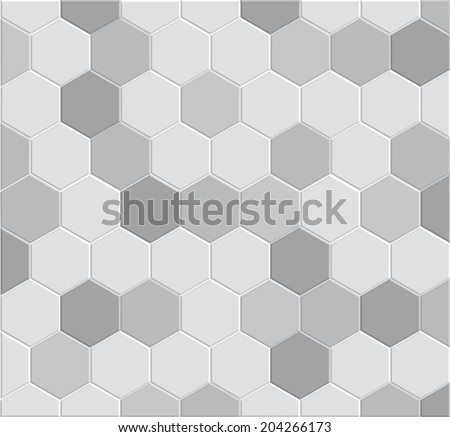 3d hexagon tile brick pattern for decoration and design tile floor, pathway clay brick stone