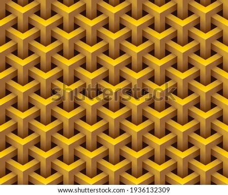 3d hexagonal geometry model