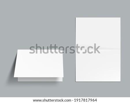 3d horizontal half fold blank