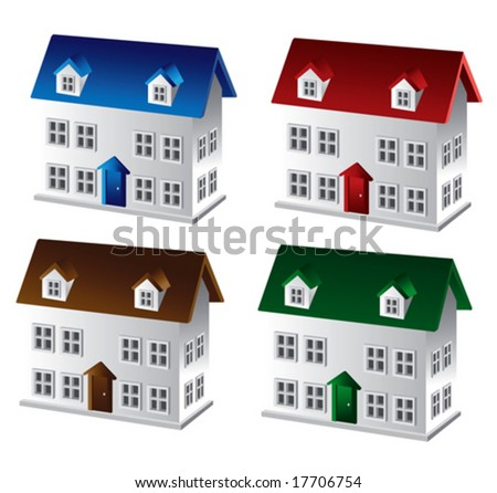 3D House - stock vector