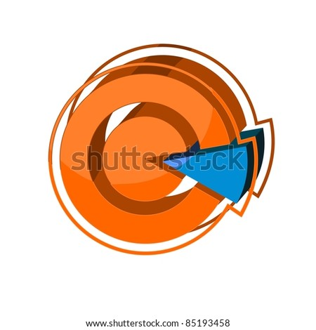 3d icon - Abstract Pie Chart
