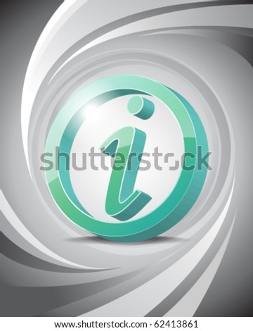 3D Icon of Information with Abstract Background