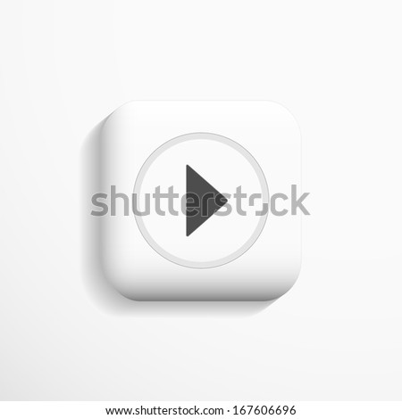 3d Icon, play design. Vector. #167606696