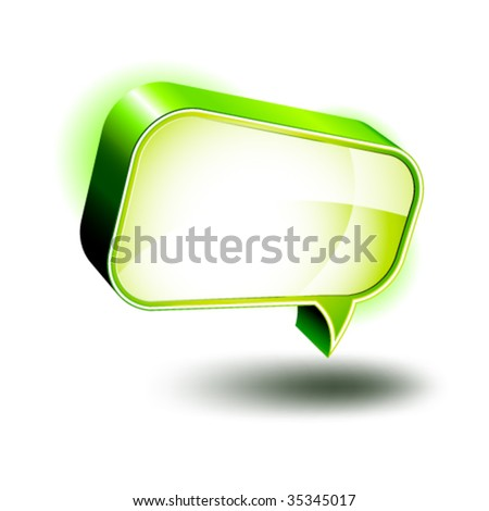 3D Icons: Glossy Chat Box