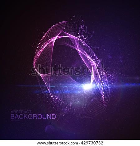 3d illuminated digital neon