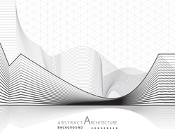 3D illustration architecture building construction perspective design abstract background.