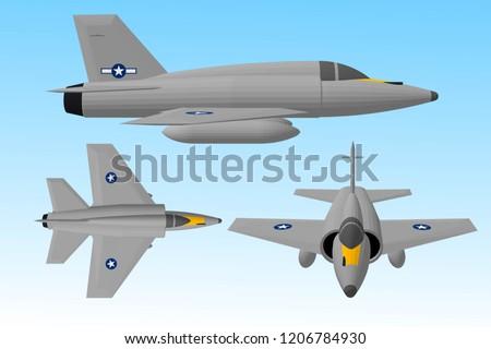3d illustration  vector  jet