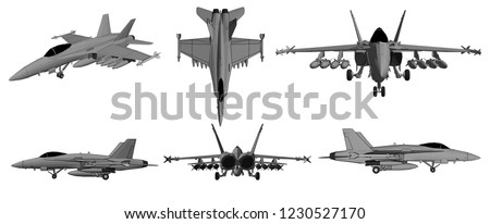 3d illustration  vector  jet