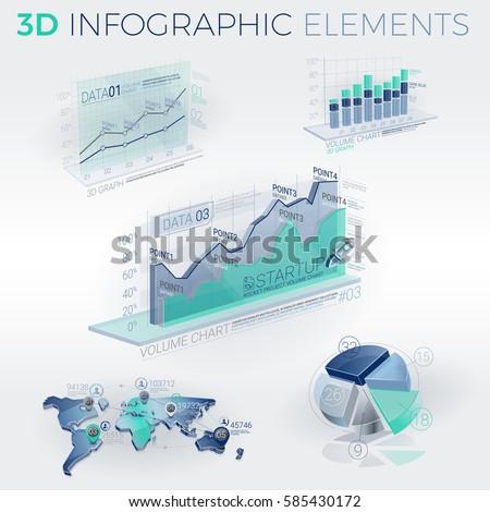 3D Infographic Elements #585430172