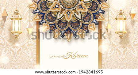 3d Islamic holiday celebration background design with luxury golden geometric patterns. Banner template suitable for Ramadan, Eid al-Fitr or Hari Raya.