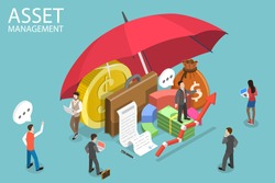 3D Isometric Flat Vector Conceptual Illustration of Asset Management, Income Increase Strategy, Financial Investment, Increasing efficiency.