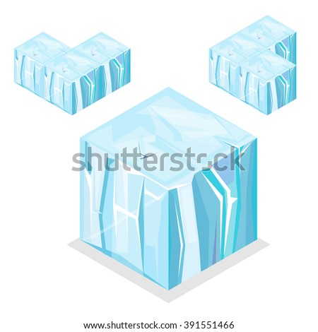 3d isometric landscape cube