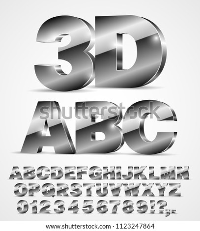3D isometry alphabet vector black font with alphabet letters and numbers on white background #1123247864