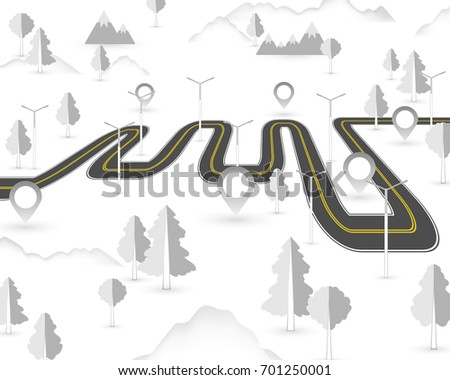 Stock Vector D Itinerary Following Infographic With Paper