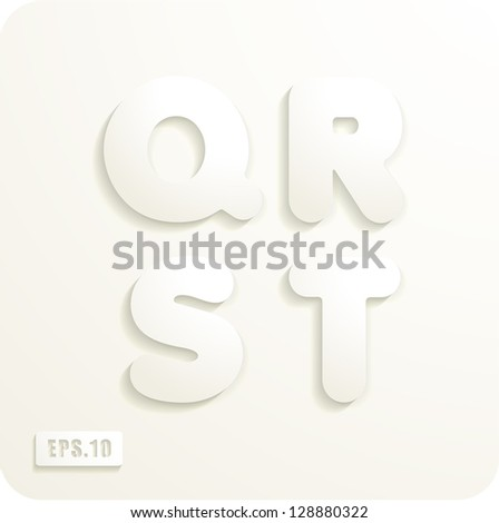 3d joyful set of cut paper