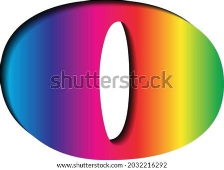 3D letter 'O' in multi colors Foto stock ©