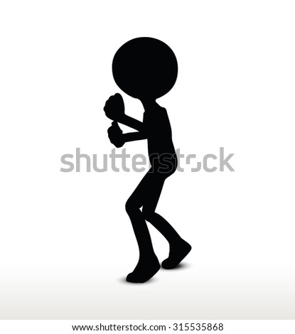 3d man silhouette  isolated on