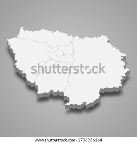 3d map of ile de france is a