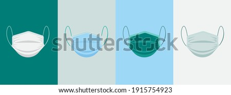 3D mask design. Different colors are different. Dominant Blue, medical devices. Cover of nose and mouth