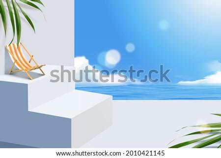 3d mediterranean beach scene