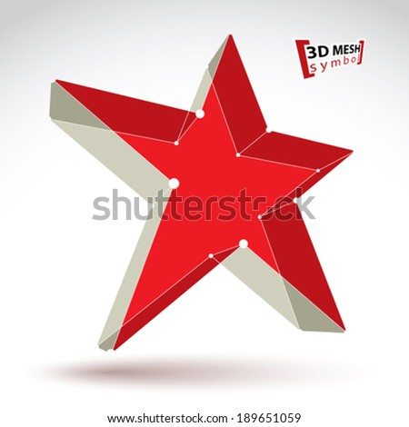 3d mesh soviet red star sign