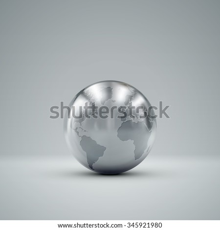 3d metallic sphere with