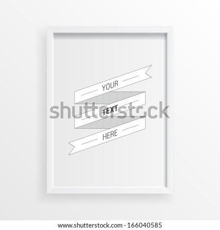 3d minimal white picture frame