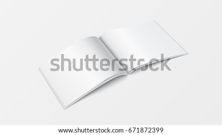 3d mock up open book template perspective view booklet blank white