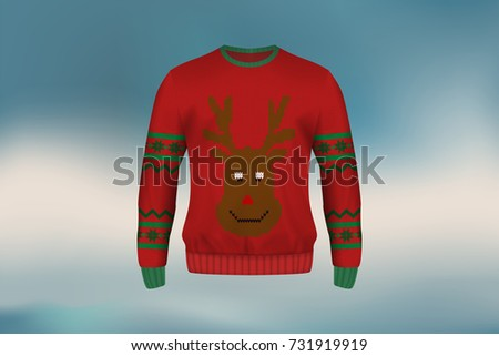 3d mockup of christmas sweater...