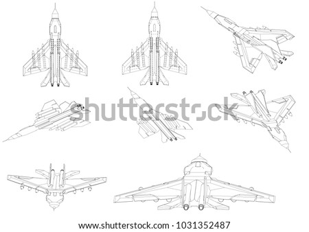 3d model of a fighter on a