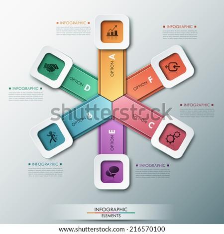 3d modern infographics options
