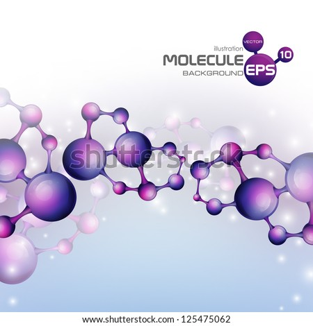 3D molecule background Vector illustration Eps 10