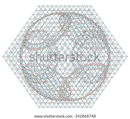 3d network concept on white