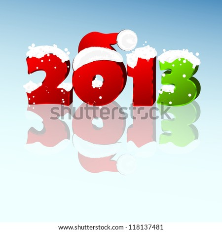 3d new year 2013 design element. Vector illustration