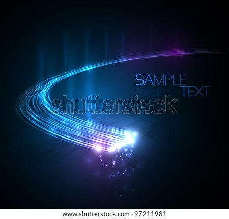 3d optical fibers vector